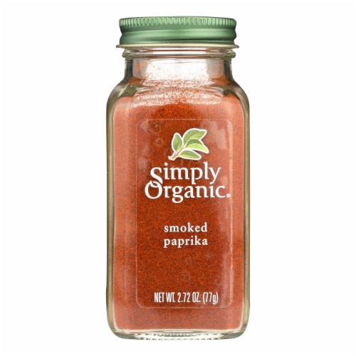 Simply Organic Smoked Paprika - Case of 6 - 2.72 oz. Perspective: front