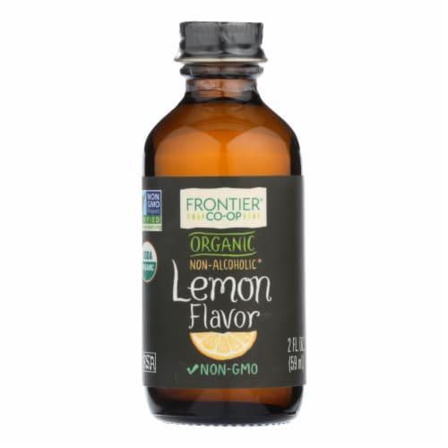 Frontier Herb Lemon Flavor - Organic - 2 oz Perspective: front