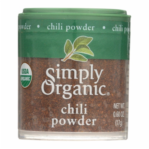 Simply Organic Chili Powder - Organic - .6 oz - Case of 6 Perspective: front