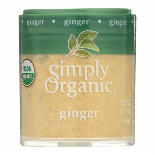 Simply Organic Ginger Root - Organic - Ground - .42 oz - Case of 6 Perspective: front