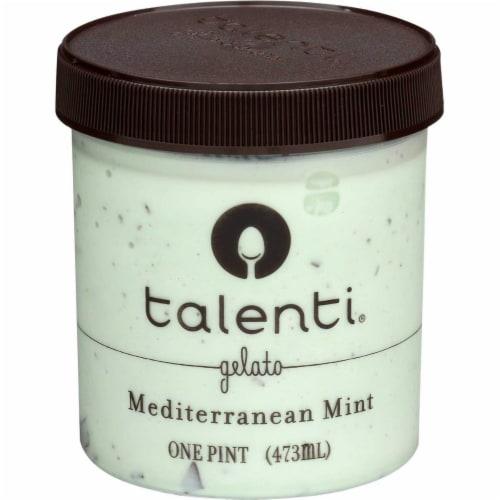 Talenti, Mediterranean Mint, Gelato, Pint (8 Count) Perspective: front