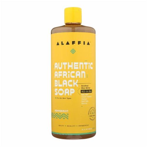 Alaffia - African Black Soap - Peppermint - 32 fl oz. Perspective: front