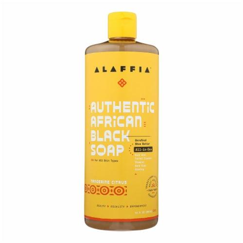 Alaffia - African Black Soap - Tangerine Citrus - 32 fl oz. Perspective: front