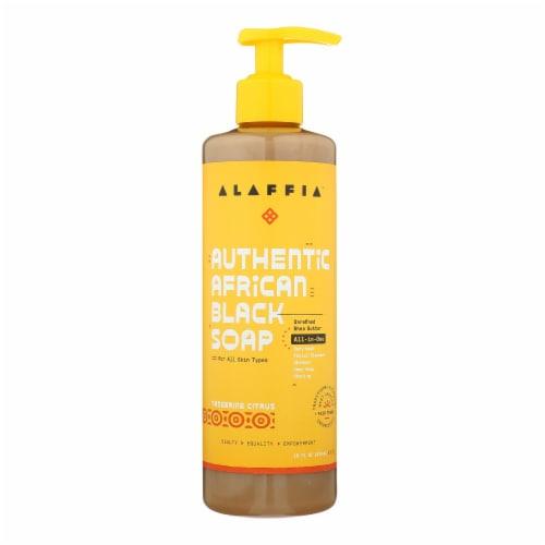 Alaffia - African Black Soap - Tangerine Citrus - 16 oz. Perspective: front