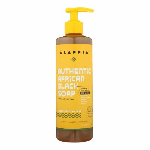 Alaffia - African Black Soap - Eucalyptus Tea Tree - 16 fl oz. Perspective: front