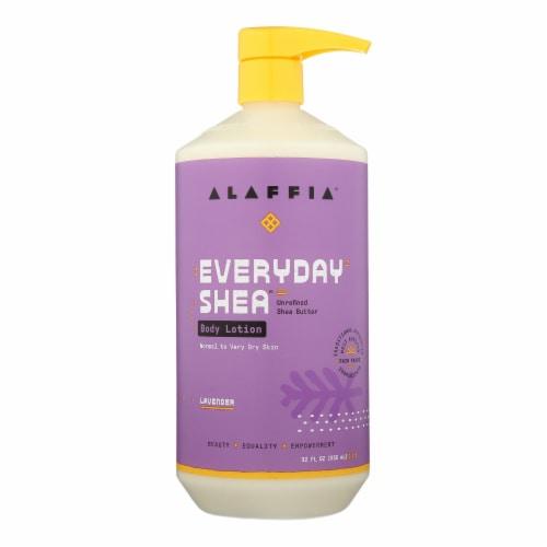 Alaffia - Everyday Lotion - Lavender - 32 oz. Perspective: front