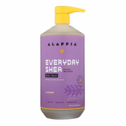 Alaffia - Everyday Body Wash - Shea Lavender - 32 oz. Perspective: front