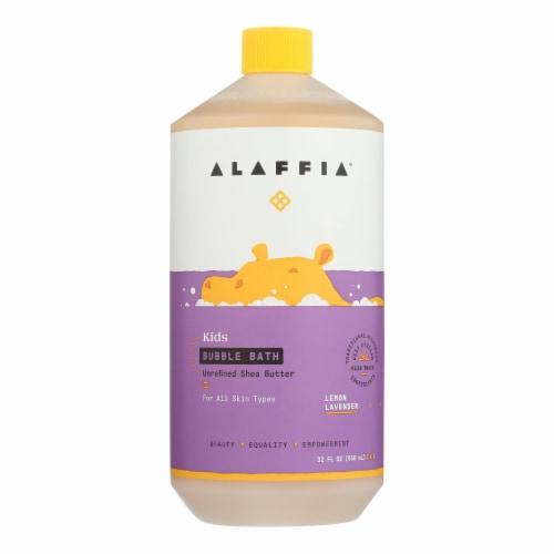 Alaffia - Everyday Bubble Bath - Lemon Lavender - 32 fl oz. Perspective: front