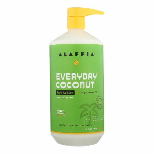 Alaffia - Everyday Lotion - Hydrating Coconut - 32 fl oz. Perspective: front
