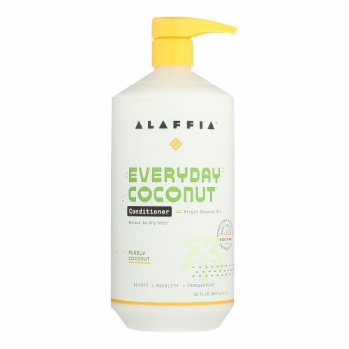 Alaffia - Everyday Conditioner - Coconut and Ginger - 32 fl oz. Perspective: front