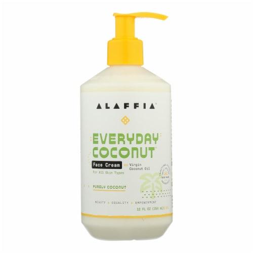 Alaffia - Night Cream - Purely Coconut - 12 fl oz. Perspective: front