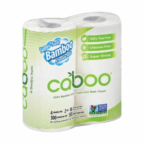 Caboo - Bathroom Tissue - Case of 10 Perspective: front