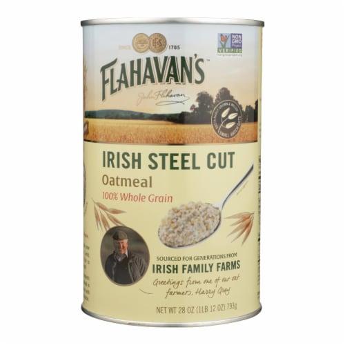 Flahavans Oatmeal - Irish Steel Cut - Case of 6 - 28 oz. Perspective: front
