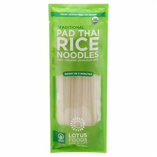 Lotus Food Traditional Pad Thai Rice Noodles, 8oz (Pack of 8) Perspective: front