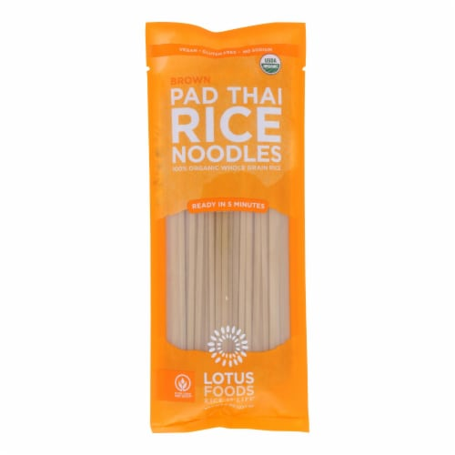 Lotus Foods Noodles - Organic - Brown Rice Pad Thai - Case of 8 - 8 oz Perspective: front