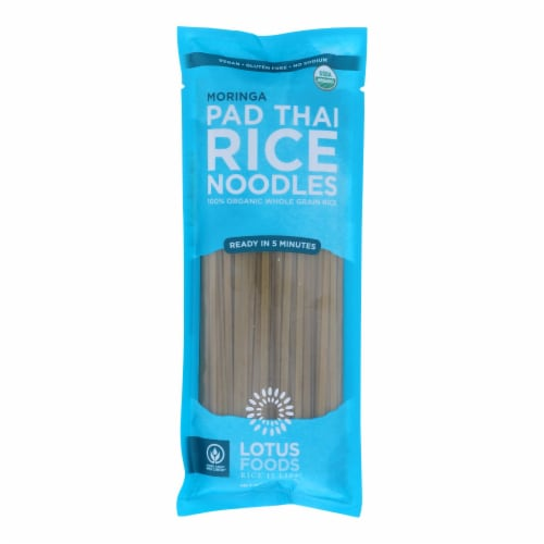 Lotus Foods Moringa Pad Thai Rice Noodles - Case of 8 - 8 OZ Perspective: front