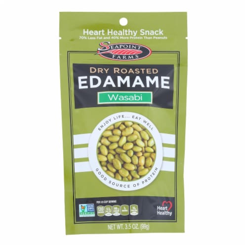 Seapoint Farms Wasabi Dry Roasted Edamame Perspective: front