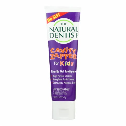 Natural Dentist Kids Cavity Zapper Toothpaste Buster Groovy Grape - 5 oz Perspective: front