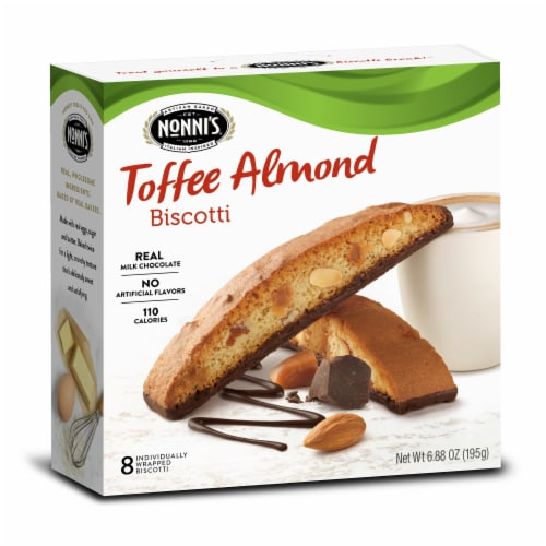 Nonnis Toffee Almond Biscotti, 8 per pack -- 12 packs per case Perspective: front