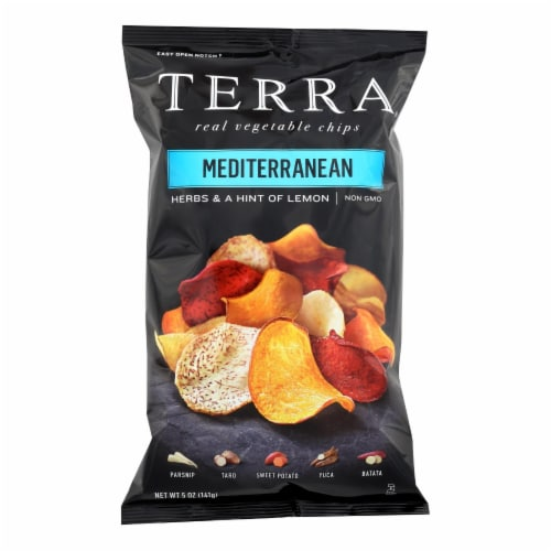 Terra Chips Exotic Vegetable Chips - Mediterranean - Case of 12 - 5 oz. Perspective: front
