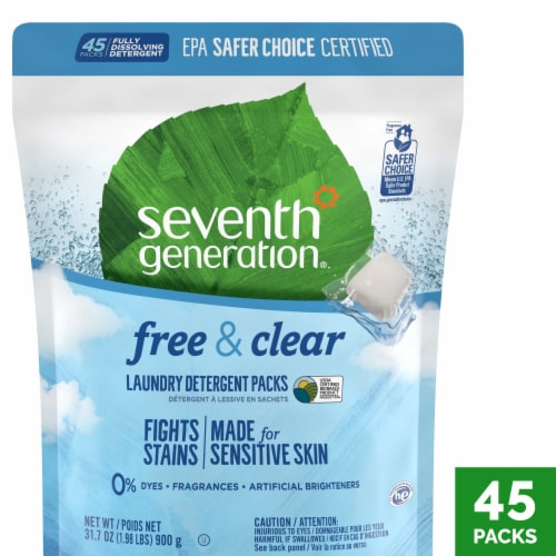 Seventh Generation Free & Clear Laundry Detergent Packs Perspective: front