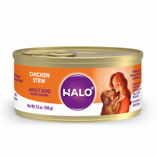 Halo Natural Chicken Stew Wet Dog Food Perspective: front