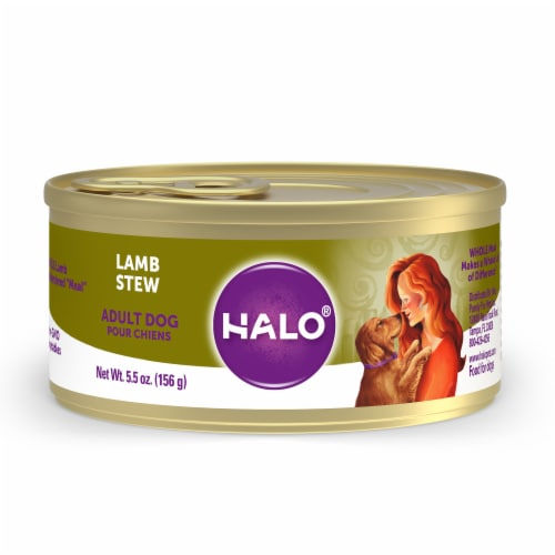 Halo Natural Lamb Stew Wet Dog Food Perspective: front