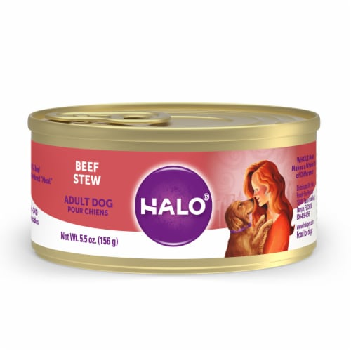 HALO Natural Beef Stew Wet Dog Food Perspective: front