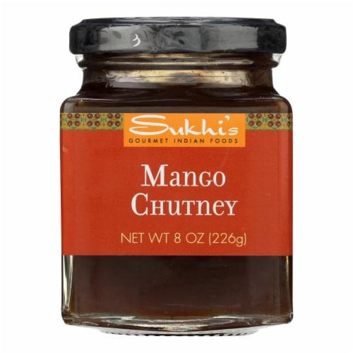 Sukhi's Gourmet Indian Food Chutney - Mango - Case of 6 - 8 oz. Perspective: front