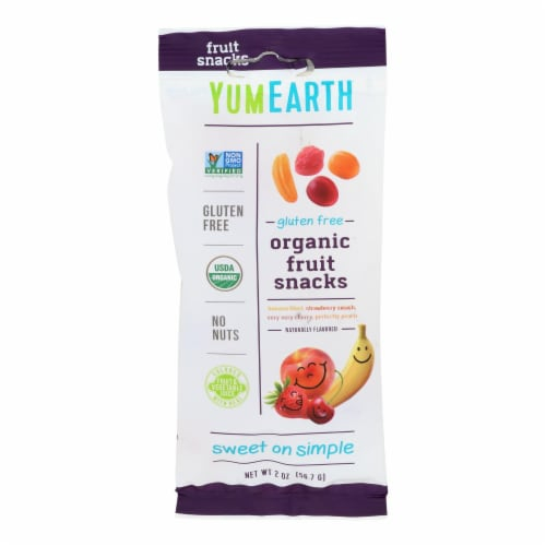 Yumearth Organics - Organic Fruit Snack - 4 Flavors - Case of 12 - 2 oz. Perspective: front