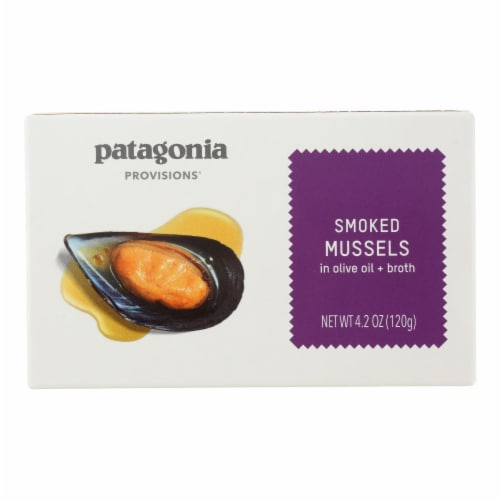 Patagonia - Mussels Smoked - Case of 10 - 4.2 OZ Perspective: front