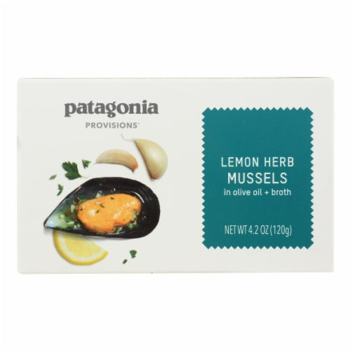 Patagonia - Mussels Lemon Herb - Case of 10 - 4.2 OZ Perspective: front