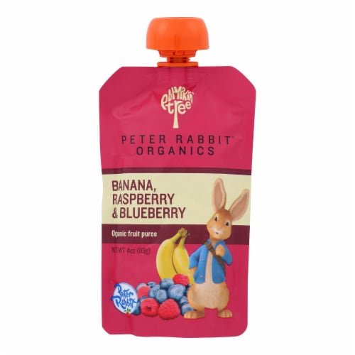 Peter Rabbit Organics Fruit Snacks - Raspberry Banana and Blueberry - Case of 10 - 4 oz. Perspective: front