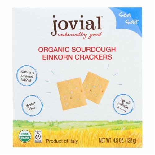 Jovial - Sourdough Einkorn Crackers - Sea Salt - Case of 10 - 4.5 oz. Perspective: front