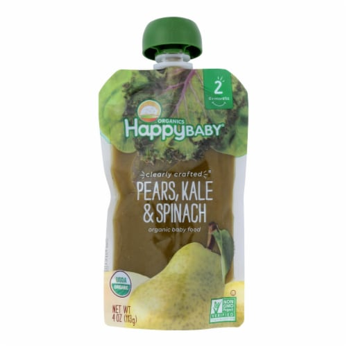 Happy Baby Happy Baby Clearly Crafted - Apples Kale and Avocados - Case of 16 - 4 oz. Perspective: front