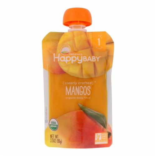 Happy Baby Clearly Crafted Mango - Case of 16 - 3.5 oz. Perspective: front