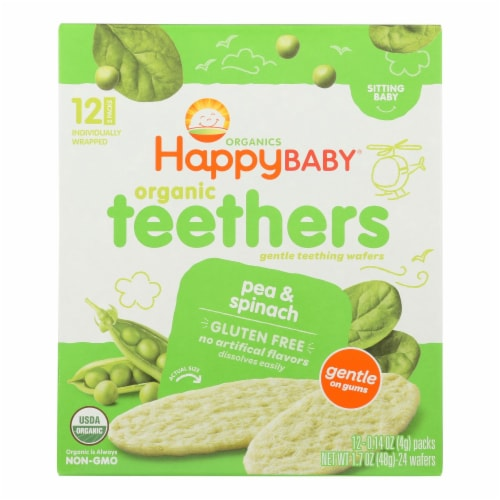 Happy Baby Gentle Tethers - Pea and Spinach - Case of 6 - 1.7 oz. Perspective: front