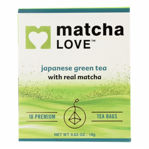 Matcha Love In Matcha Green Tea Traditional Flavor  - Case of 6 - 10 BAGS Perspective: front