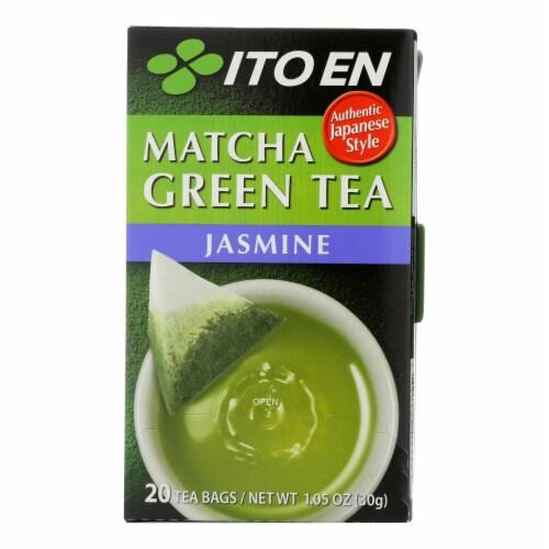 Ito En Organic Matcha Green Tea Jasmine  - Case of 6 - 20 BAG Perspective: front