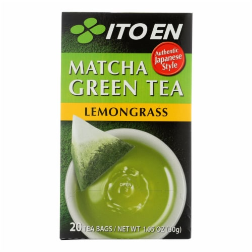 Ito En Organic Matcha Green Tea Lemongrass  - Case of 6 - 20 BAG Perspective: front