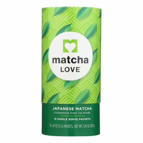 Matcha Love - Tea Unswt Matcha Powder Ss - Case of 6 - 15/.07OZ Perspective: front