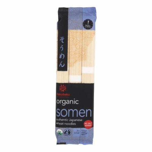 Hakubaku 100% Organic Noodles - Somen - Case of 8 - 9.52 oz Perspective: front