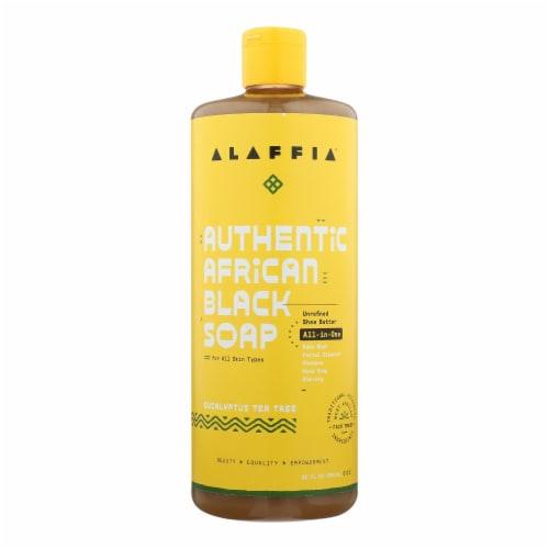Alaffia - African Black Soap - Eucalyptus Tea Tree - 32 fl oz. Perspective: front