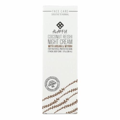 Alaffia - Night Cream - Coconut Reishi - 3 fl oz. Perspective: front