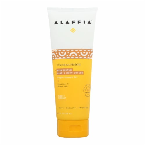 Alaffia - Hand and Body Lotion - Coconut Reishi - 8 fl oz. Perspective: front