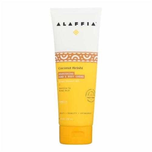 Alaffia - Hand and Body Cream - Coconut Reishi Vanilla - 8 fl oz. Perspective: front