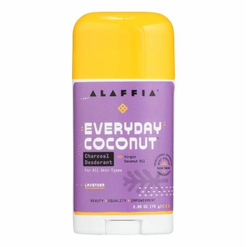 Alaffia - Deodorant - Coconut Lavender - 2.65 oz. Perspective: front