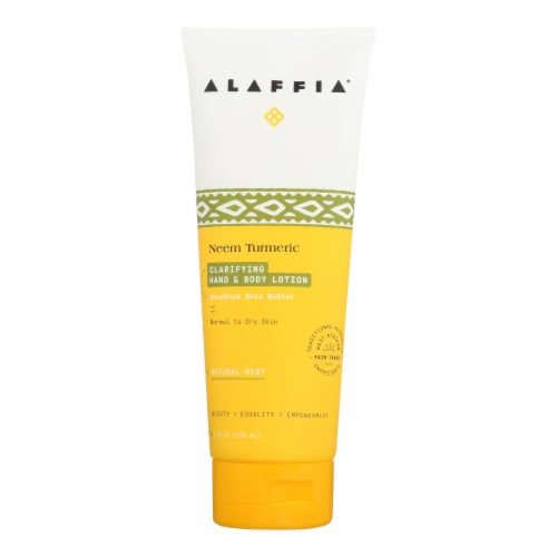 Alaffia - Hand and Body Lotion - Shea Yarrow and Turmeric - 8 oz. Perspective: front
