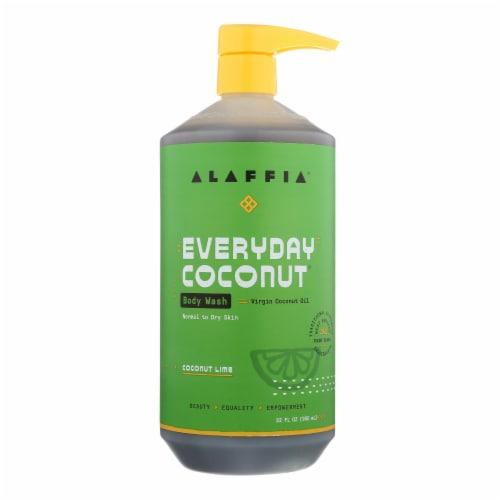 Alaffia - Everyday Body Wash - Coconut Lime - 32 fl oz. Perspective: front