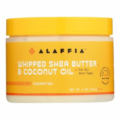 Alaffia - Whip Shea Btr/cnut Unscnt - EA of 1-4 OZ Perspective: front
